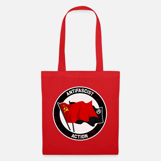 Hammer Bags & Backpacks - Antifascist Action - Tote Bag red