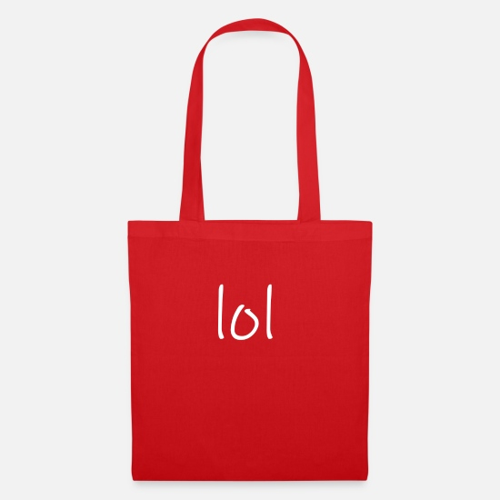 Colour Bags & Backpacks - lol - Tote Bag red