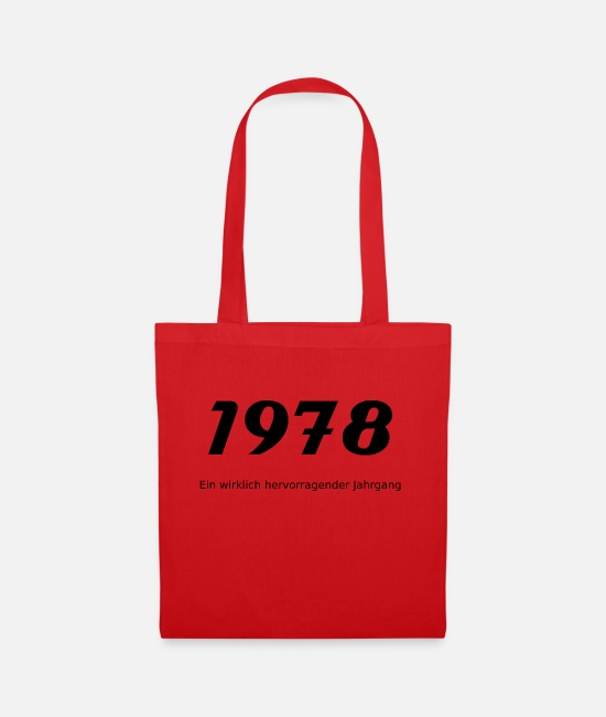 Birthday Bags & Backpacks - 1978 - Tote Bag red