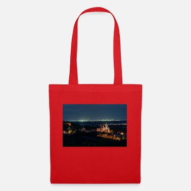 Katharinenkirche in front of the FFM skyline. Blue hour - Tote Bag