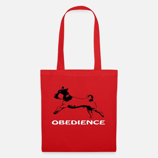 Obedience Bags & Backpacks - Obedience with Jack Russel - Tote Bag red