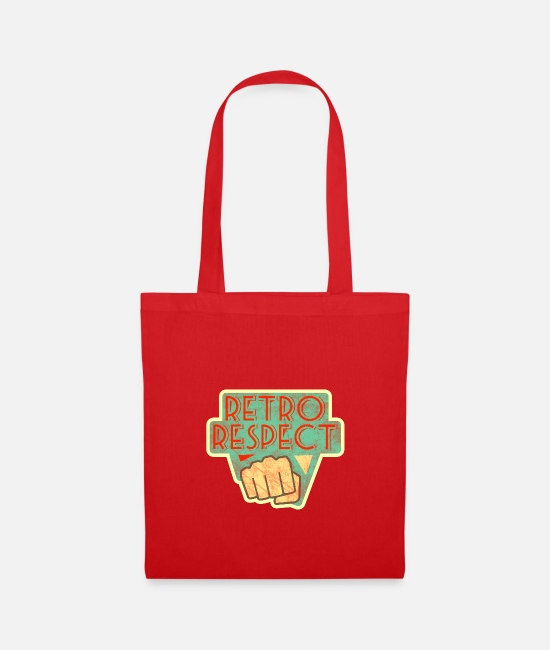 Novelty Bags & Backpacks - Retro respect fist 1950s - 1960s inspired worn - Tote Bag red