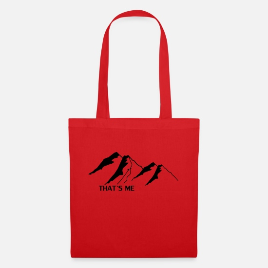 Ski Bags & Backpacks - SKI MOUNTAINS, alps, go heli-skiing, - Tote Bag red