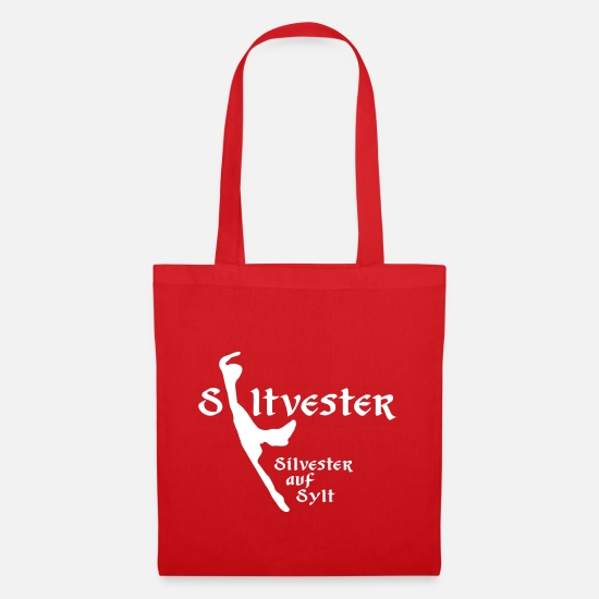 Winter Bags & Backpacks - Syltvster - New Year's Eve on Sylt - Tote Bag red
