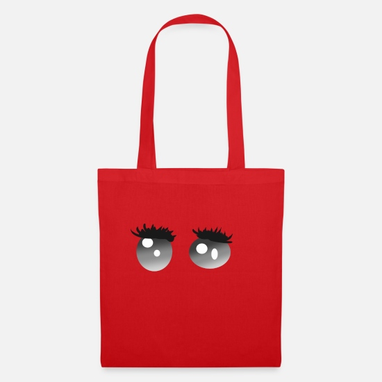 Gift Idea Bags & Backpacks - googly eyes - Tote Bag red