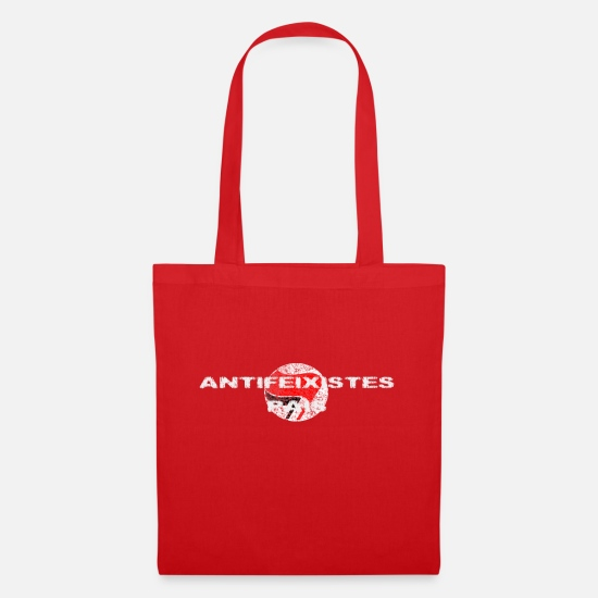 Antifa Bags & Backpacks - Antifascist country Antifeixistes Pais FCKNZS - Tote Bag red
