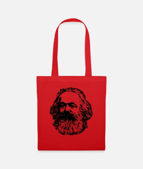 Communist Bags & Backpacks - Karl Marx - Tote Bag red