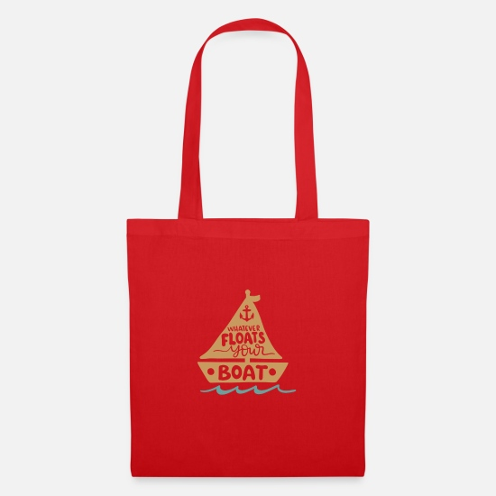 New Bags & Backpacks - Whatever your boat moves. - Tote Bag red