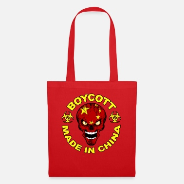Chinese skull flag - Tote Bag
