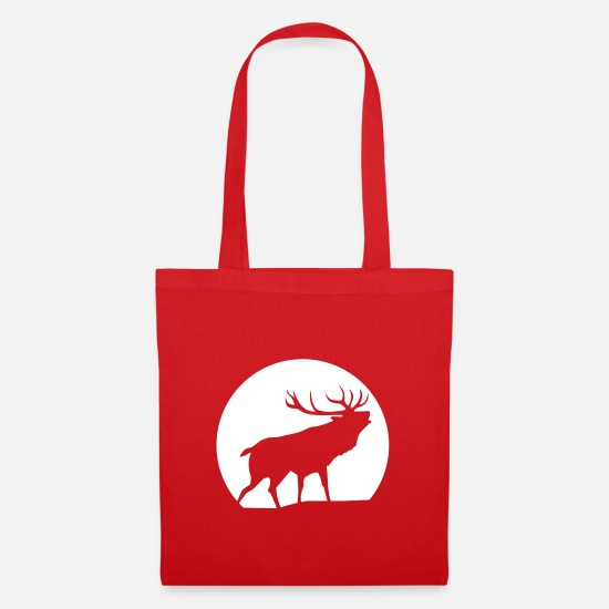 Party Bags & Backpacks - Deer - Tote Bag red