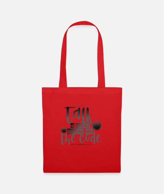 Program (what You Do) Bags & Backpacks - Talking is cheap shirt - Tote Bag red