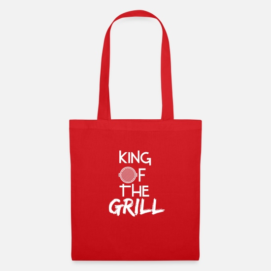 Birthday Bags & Backpacks - King of the grill - Birthday gift for dads - Tote Bag red