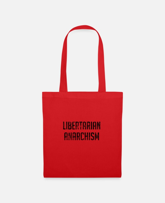 Libertarian Anarchy Bags & Backpacks - Libertarian Anarchism - Tote Bag red