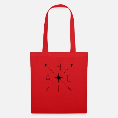Stylish AHOI design with compass - Tote Bag