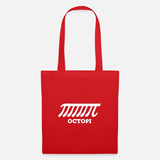 Geek Bags & Backpacks - Octopi (PI) - Tote Bag red
