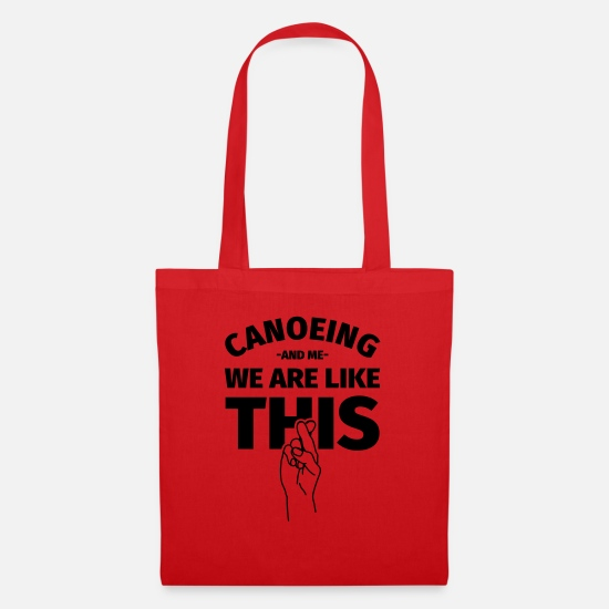 Canoeing Bags & Backpacks - Canoeing Canoe Canoe funny - Tote Bag red