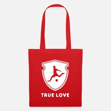 Soccer Champion Football - true love. Coat of arms with footballer. - Tote Bag