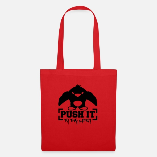 Border Bags & Backpacks - Push It To The Limit Penguin - Tote Bag red