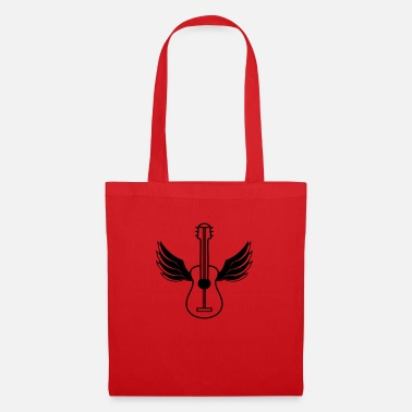 Magic Mushrooms guitar wing fly angel sky learn cool s - Tote Bag