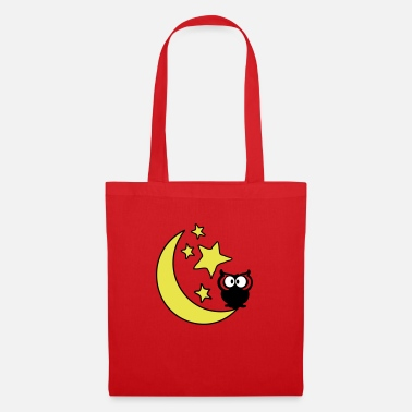 Birding moon and stars and owl c3 - Tote Bag