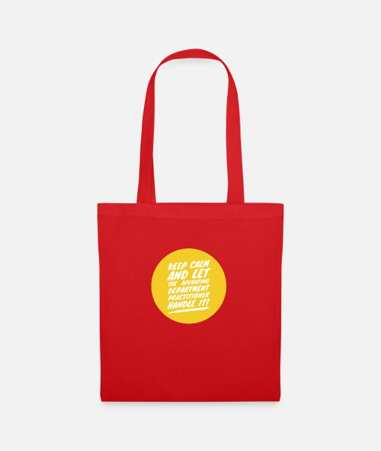 Operating Department Practice Bags & Backpacks - Keep calm 1 - Tote Bag red