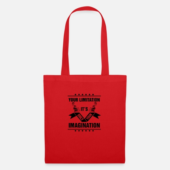 Bench Bags & Backpacks - your limitation is only your imagination - Tote Bag red