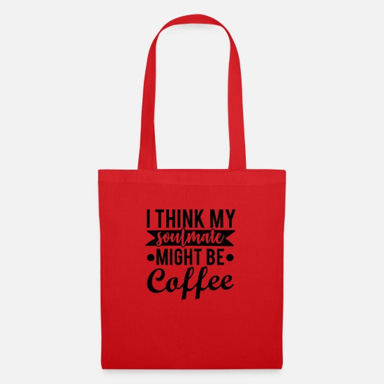 Cool Bags & Backpacks - Coffee, Soulmate - Tote Bag red