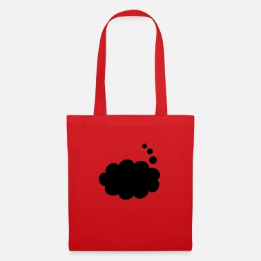 Thought Bubble Text Balloon (thought inverted) - Tote Bag