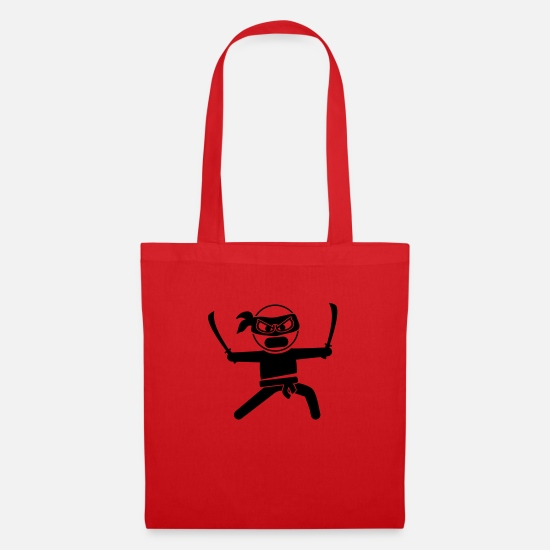 Illustration Bags & Backpacks - ninja_f1 - Tote Bag red