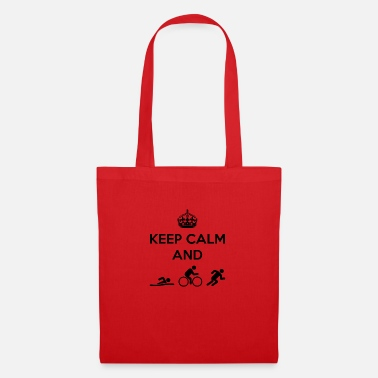 Calm The Fuck Down Keep Calm and Swim Bike Run - Tote Bag