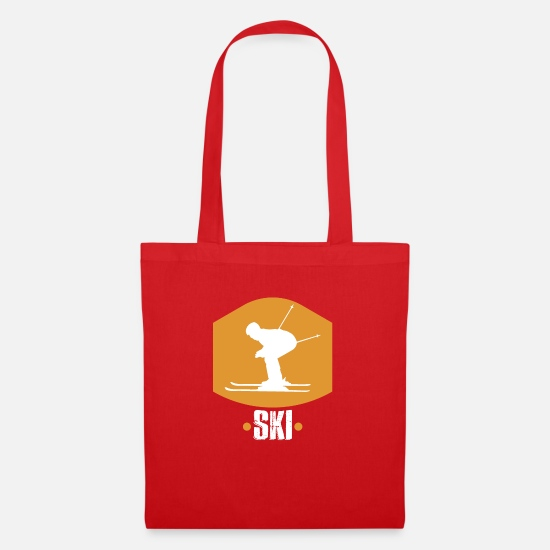 Ski Bags & Backpacks - Ski driver sport winter vacation - Tote Bag red