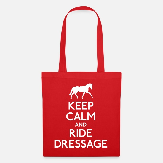 Yolo Bags & Backpacks - Keep Calm and Ride Dressage - Tote Bag red