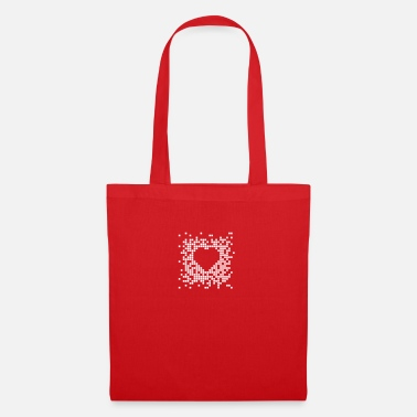 Couples &amp Pixel Heart - Tote Bag