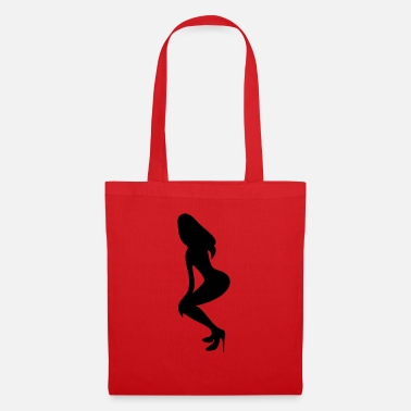 Long Underwear ۞»♥Vector Sexy Wasp-waisted woman on Stilettos♥ - Tote Bag