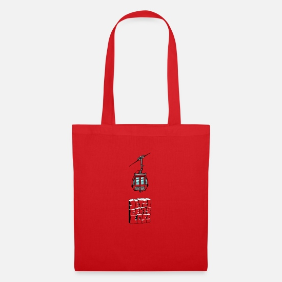 Mountains Bags & Backpacks - 0851 gondola jetzt rocks tshirt color - Tote Bag red