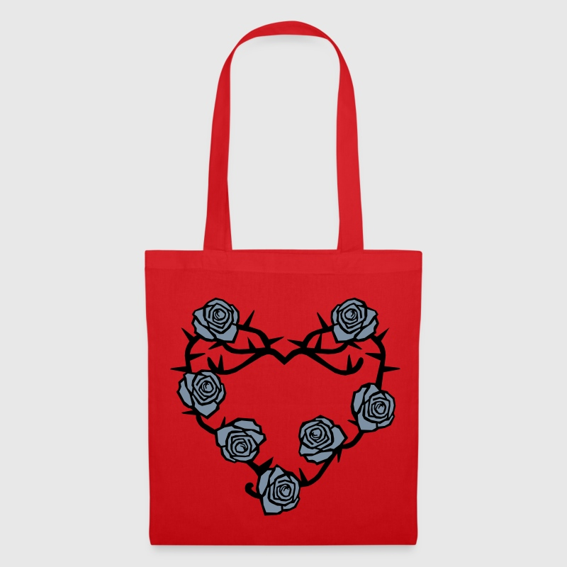 Roses and Thorns Heart - Tote Bag