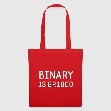 Binary is Great (GR8) Maths Joke - Tote Bag