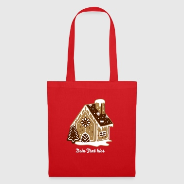 A gingerbread house, gingerbread and frosting  - Tote Bag