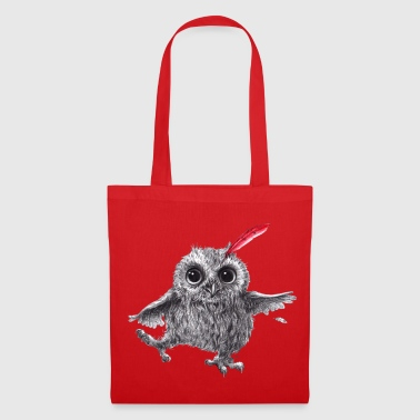 Chouette Chief Red - Happy Owl - Tote Bag