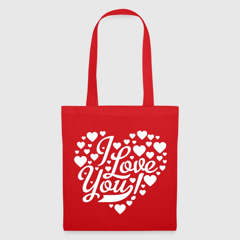 i love you heart shaped design - Tote Bag