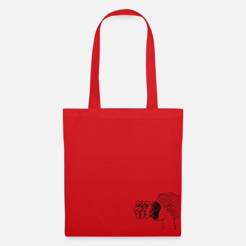 Love Bags & Backpacks - emotions outline aesthetic tumblr - Tote Bag red