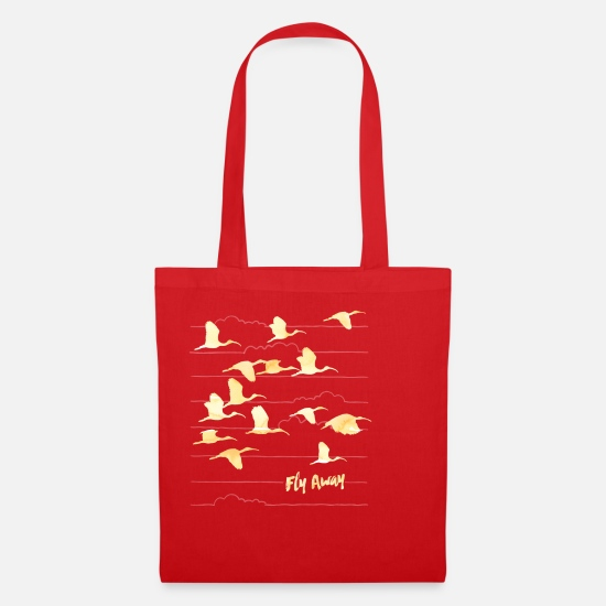 Animal Bags & Backpacks - Animal Planet Crane 'Fly away' - Tote Bag red