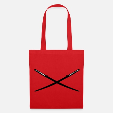 Katana Crossed Japanese Katana - Tote Bag