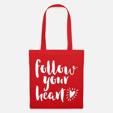 Valentines Day Follow Your Heart Quote - Tote Bag