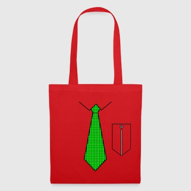 Cravate verte avec poche - Tote Bag