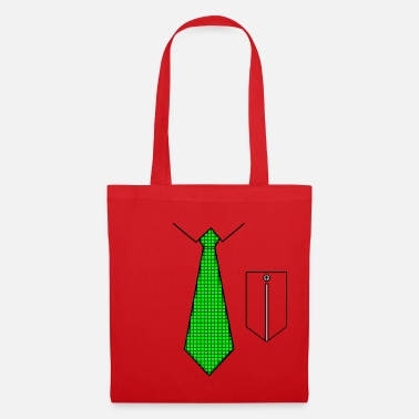 Green tie with pocket - Mulepose