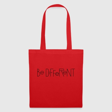 Be Different! zeggende gift - Tas van stof