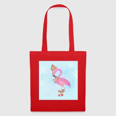 Flamingo in the frost - Tote Bag