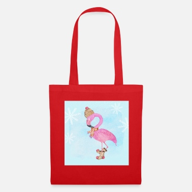 Frost Flamingo in the frost - Tote Bag