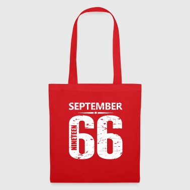 September 1966 Jersey Number - Tote Bag
